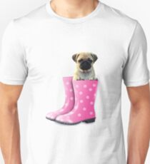 Pug in pink boots T-Shirt