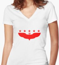 LFC 5 Star - Red Women's Fitted V-Neck T-Shirt