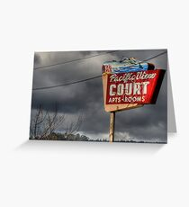Pacific View Court Motel Greeting Card