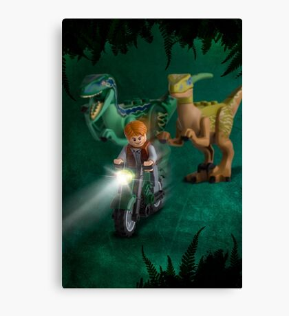 Lego Jurassic World Canvas Print