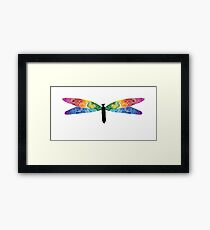 Pointillism Dragonfly Framed Print