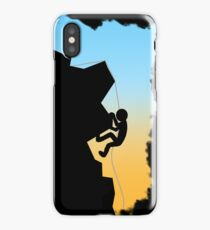 Mountain Climbing Silhouette Design iPhone Case