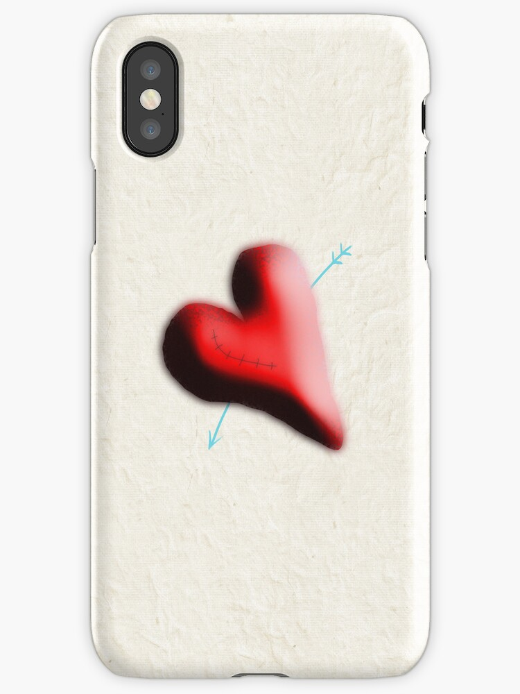 Heart iphone case by rupydetequila