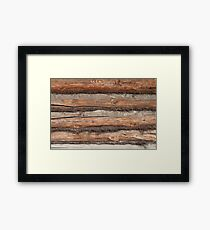 wall of the old logs caulking hemp Framed Print