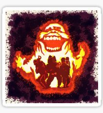 Pumpkin carving Ghost Busters Sticker
