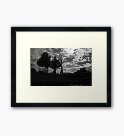 Eiffel Tower from the Seine Framed Print
