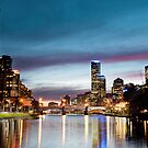 Melbourne on Sunset by Alex Wise