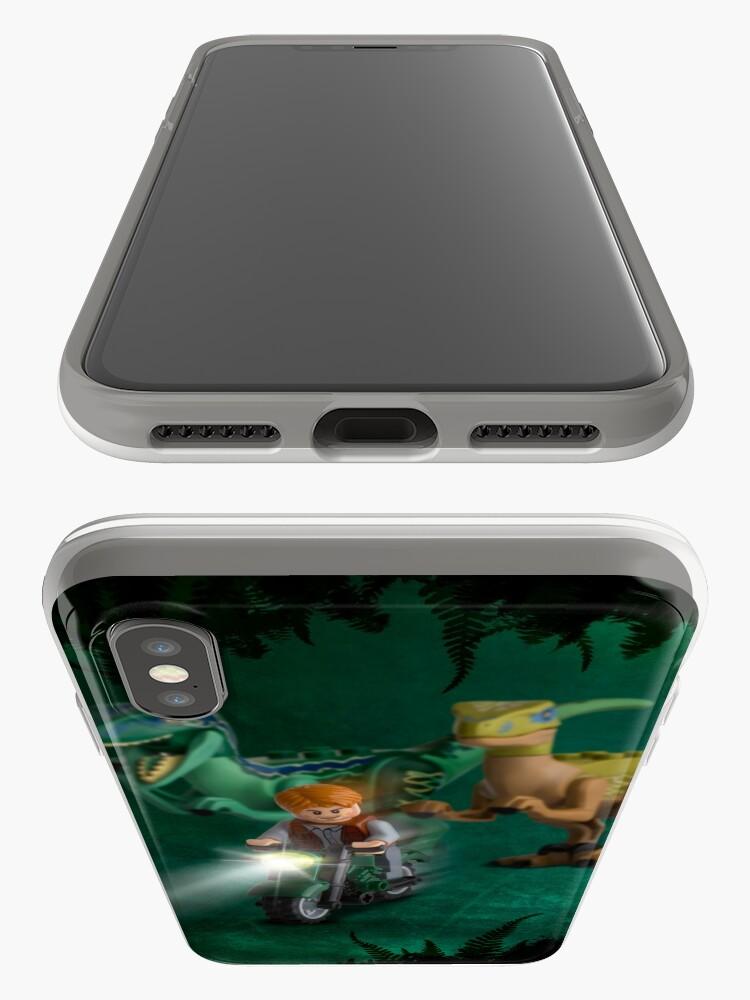 Vista alternativa de Funda y vinilo para iPhone Lego Jurassic World