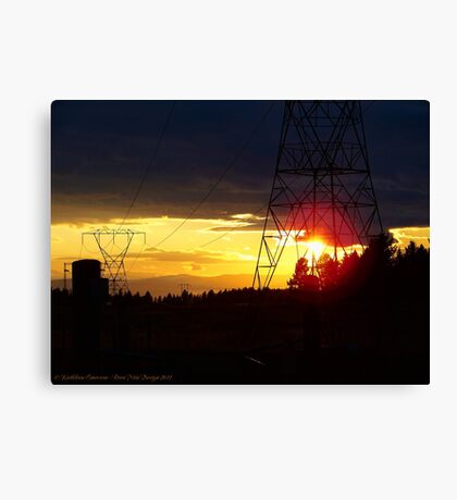 Electrified Evening Canvas Print