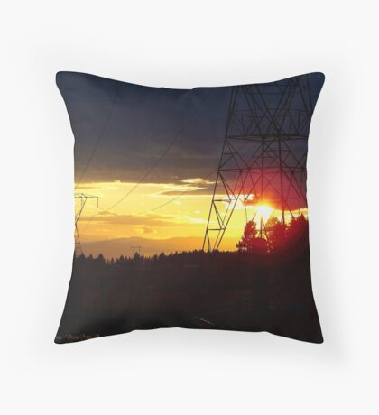 Electrified Evening Throw Pillow