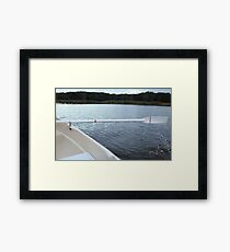 Oar rowing boat Framed Print