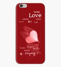 plainly ~ i love you iPhone Case Red iPhone Case