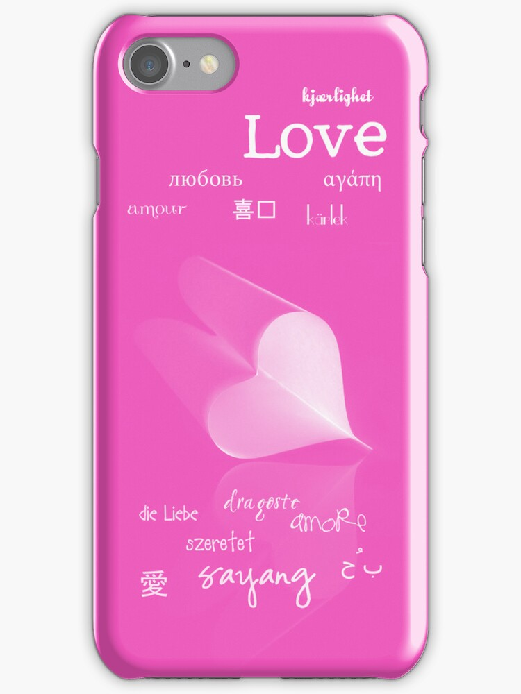 plainly ~ i love you iPhone Case Pink by Adriana Glackin