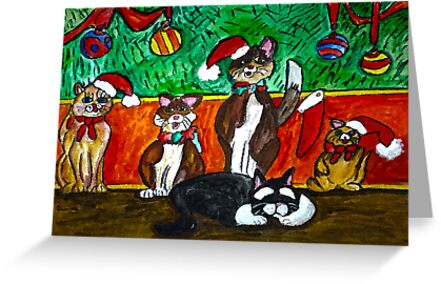 A Meowing Christmas Dream by Monica Engeler