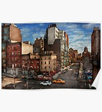 New York - City - Greenwich Village - The corner of 10th Ave & W 18th St  Poster