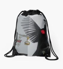 Blackbirds In Leicester Square, London (1) Drawstring Bag