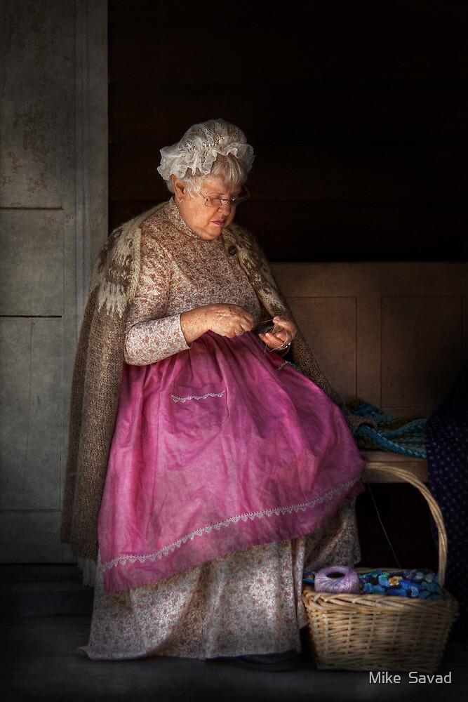 Sewing - Ribbon - Granny's hobby  by Michael Savad