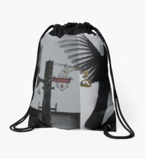 Blackbirds In Leicester Square, London (2) Drawstring Bag
