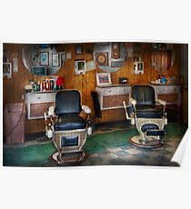 Barber - Frenchtown, NJ - Two old barber chairs  Poster
