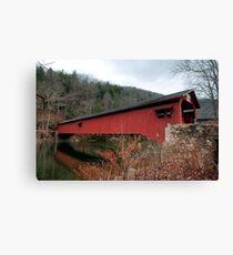 Freshly Rejuvenated Hillsgrove Covered Bridge Canvas Print