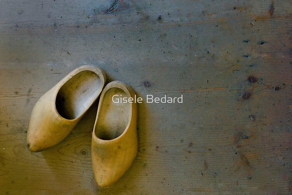 Wooden Clogs by Gisele Bedard