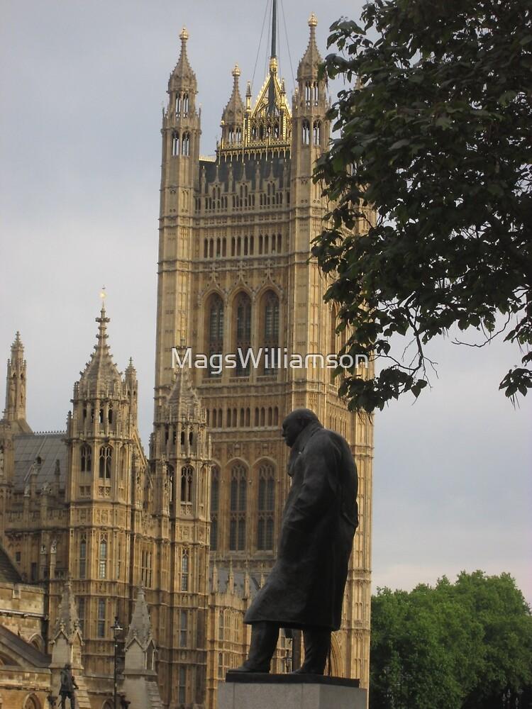 Churchill Statue, London by MagsWilliamson
