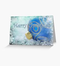 Merry Christmas blues Greeting Card