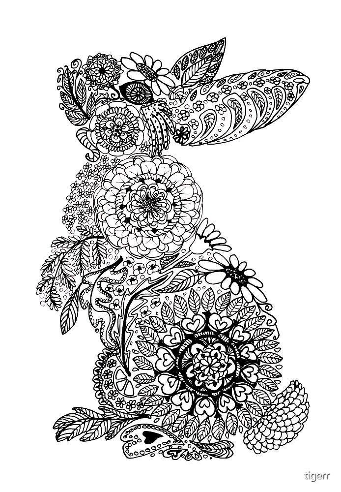 Doodle Bunny by tigerr