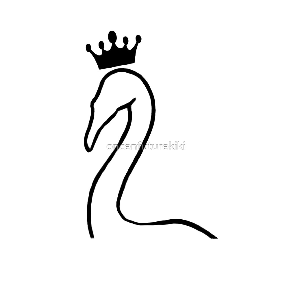 Swan Queen - Crowned Swan by oncenfuturekiki