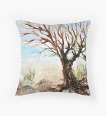 View to ocean in front of me? Throw Pillow