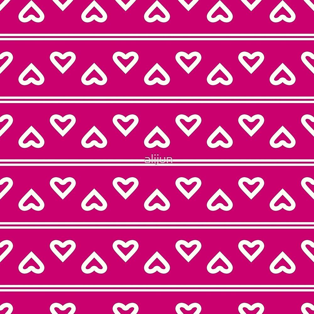 Pattern in the hearts. Valentine's Day by alijun
