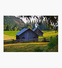 Okanagan Barns Photographic Print