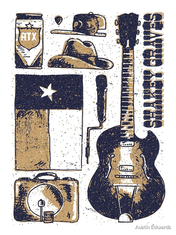 Shakey Graves Poster by Austin Edwards