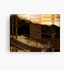 ridge view... through a split screen of improbability Canvas Print