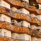 Balconies in Barcelona by montserrat