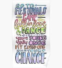 """Growing Up"" by Macklemore & Ryan Lewis Lyric Drawing  Poster"