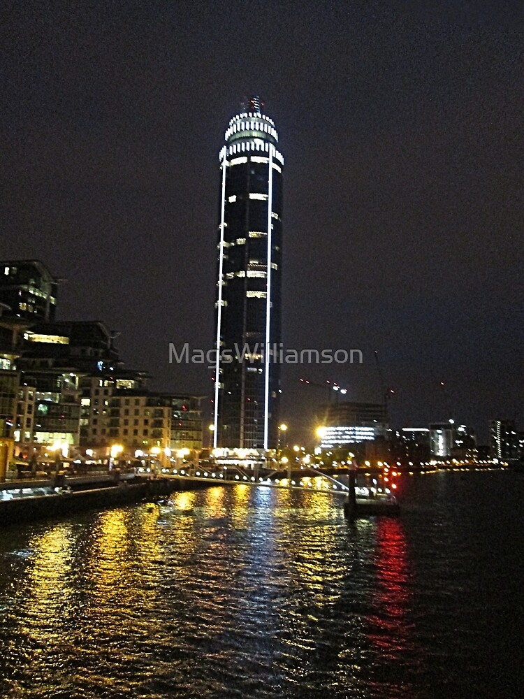 Vauxhall Tower At Night, London by MagsWilliamson