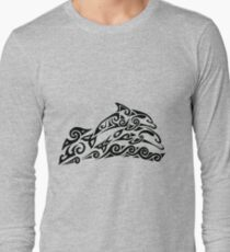 Tribal Dolphins Long Sleeve T-Shirt