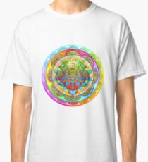 Inner Strength Psychedelic Tiger Sri Yantra Mandala Classic T-Shirt
