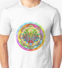 Inner Strength Psychedelic Tiger Sri Yantra Mandala Unisex T-Shirt