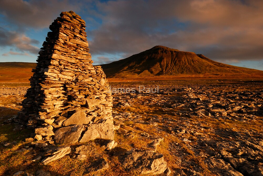 Ingleborough from Harry Hallam's Moss, Chapel-le-Dale, Ribblesdale, Yorkshire Dales by James Paul