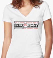 The Red Pony Women's Fitted V-Neck T-Shirt