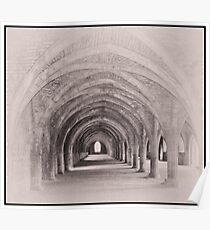 Fountains Abbey Cellarium Poster