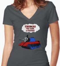 Thomas the Tank Women's Fitted V-Neck T-Shirt
