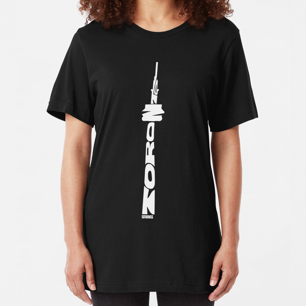 Toronto CN Tower White Slim Fit T-Shirt