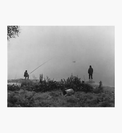 Fishing On The Foggy Rhine Photographic Print