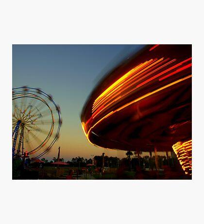 Merry Go Round Lights Photographic Print