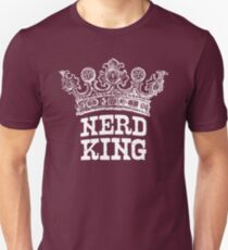 Nerd King Crown Logo (White Ink) T-Shirt