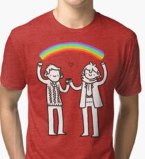 Sherlock and John: Rainbows Tri-blend T-Shirt