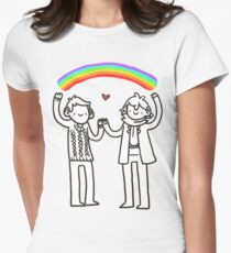 Sherlock and John: Rainbows Womens Fitted T-Shirt